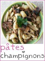 poelée de pâtes aux champignons de paris - index