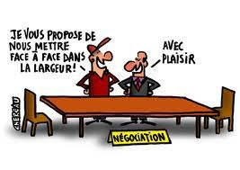 table des négociations