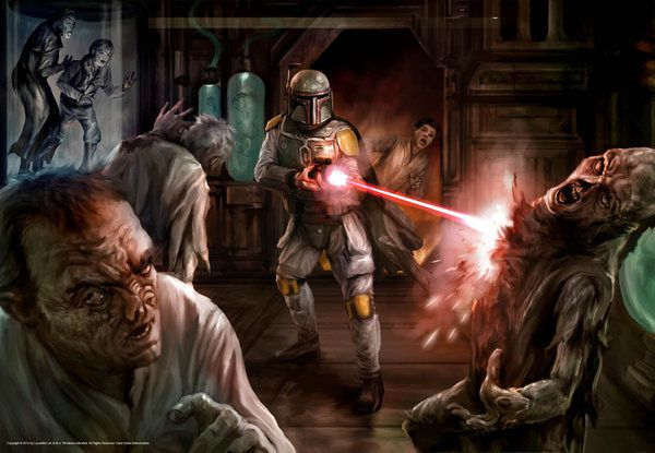 boba fett vs zombies by chrisscalf-d5i4nuo