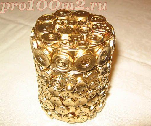 Pot avec des boutons le blog de manouchka - Deco avec des boutons ...