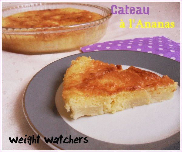 Assez gateau à l'ananas weight watchers - mon royaume weight-watchers GC84