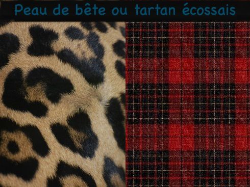 peau de b te ou tartan cossais a part a. Black Bedroom Furniture Sets. Home Design Ideas