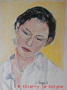 acrylique portrait