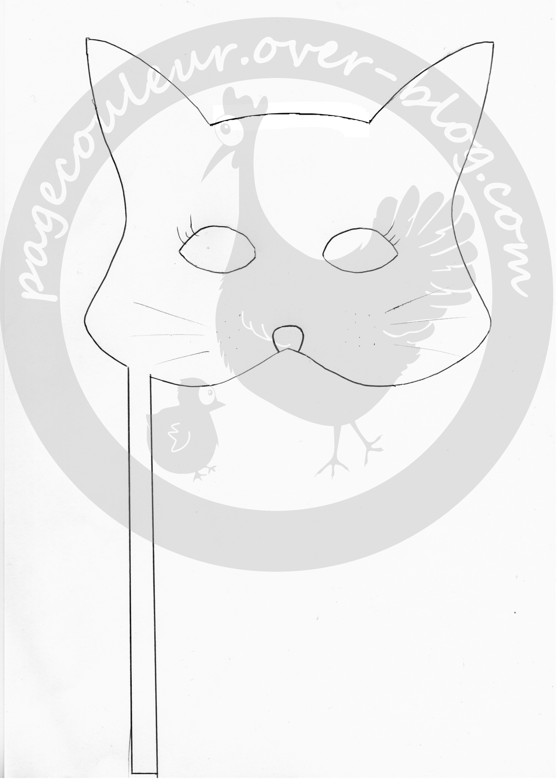 patron-masque-enfant-chat