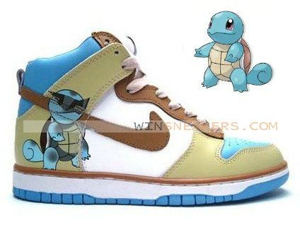 Nike Custom Dunks High Tops Squirtle - hailly 43c63c9bc814
