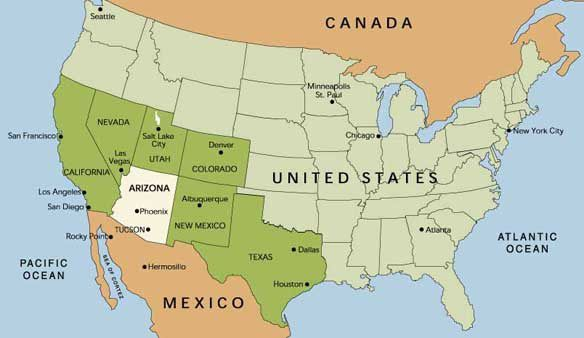 US Airports Map Airports In USA Arizona Map Map Of Arizona AZ Map - Phoenix in us map