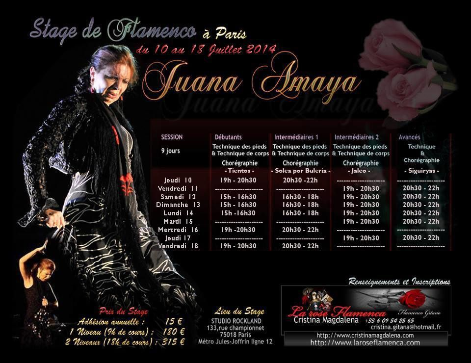 stage de flamenco avec juana amaya du 10 au 18 juillet a. Black Bedroom Furniture Sets. Home Design Ideas