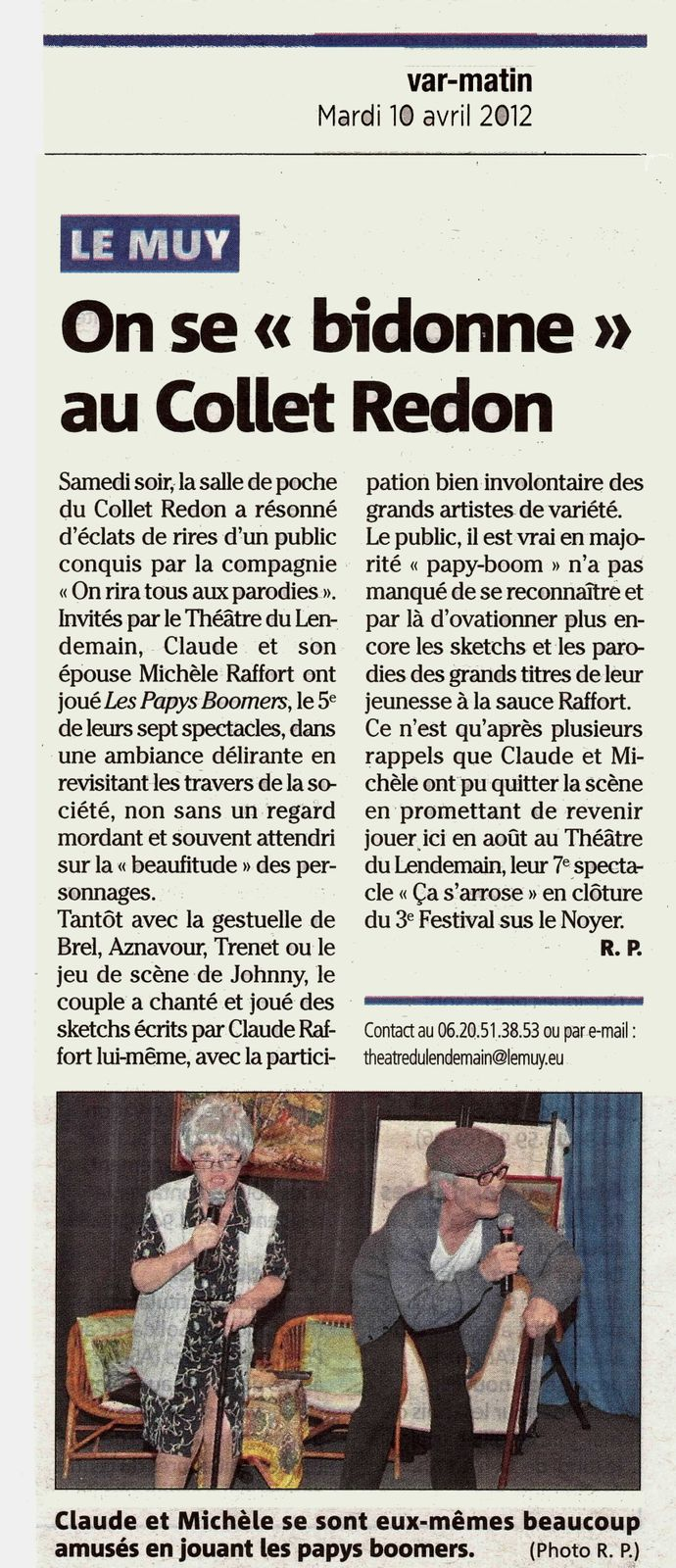 Article Var Matin 10 avril 2012 mod