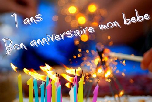 7 Ans Bon Anniversaire Mon Bébé Les Chroniques De Swettylux