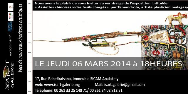invitation Is'Art galerie du 6 mars 2014