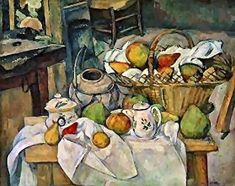 Cezanne NatureMorte avec une corbeille de fruits