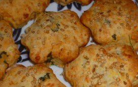 Scones fromages, oignons, carottes persil (4)