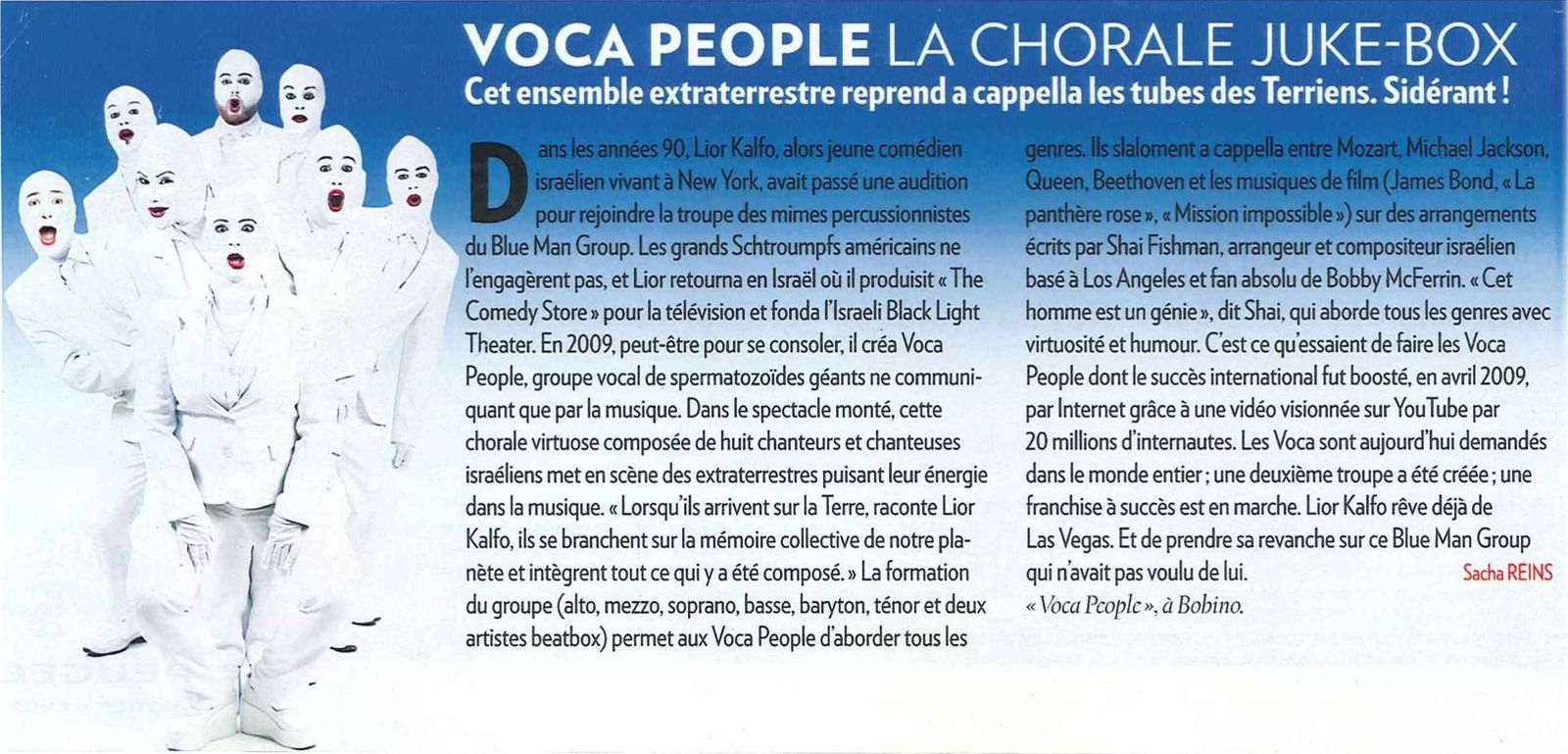 Les Voca People - Paris Match