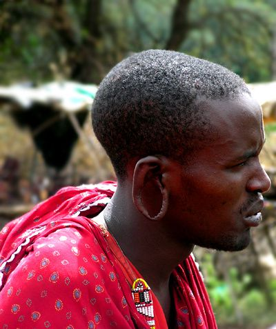 Afrique masai warrior profil
