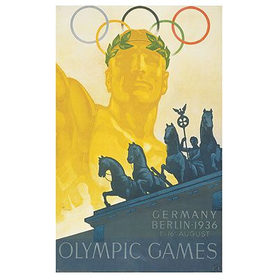 Allemagne Affiche Olympic Berlin Jeux 36