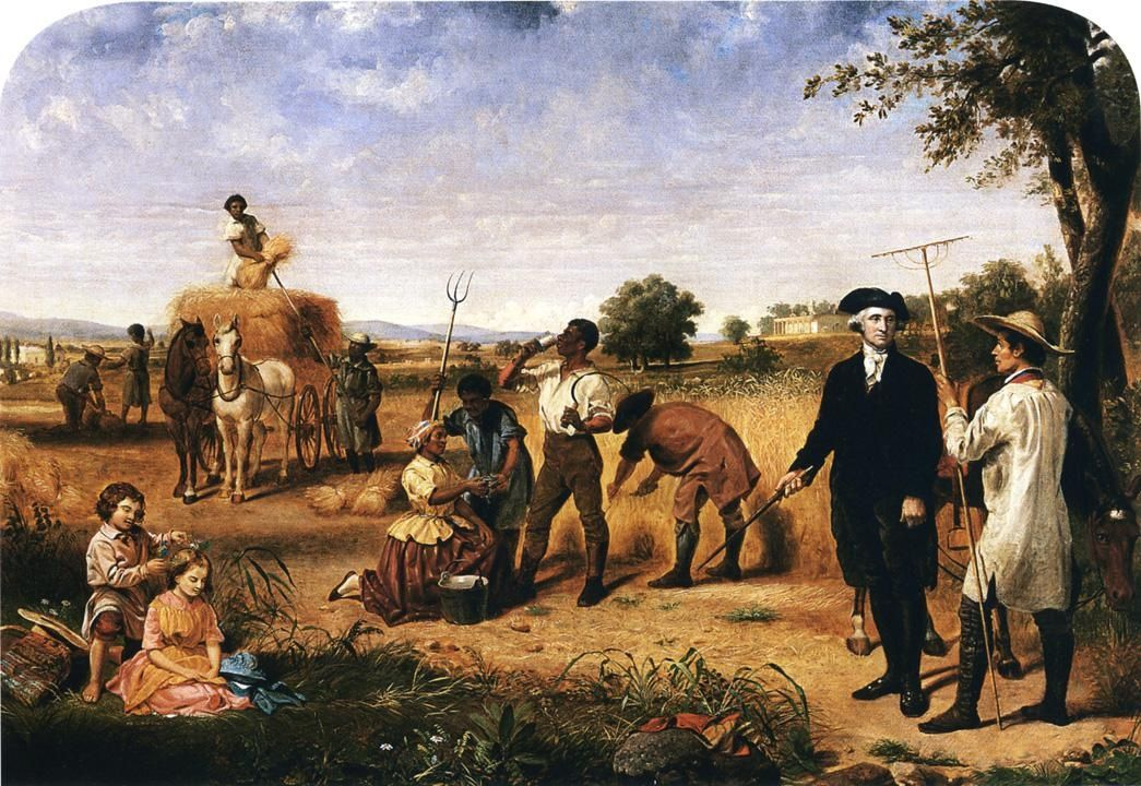 USA Junius Brutus Stearns - George Washington as Farmer at