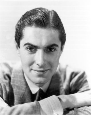 Tyrone Power Jr as a young man with arms crossed-Photo-B&W
