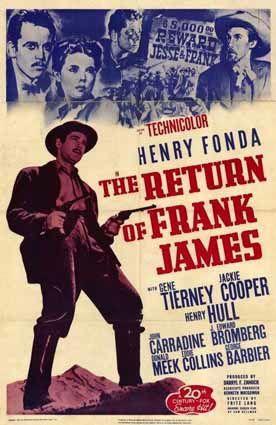 Le retour de Frank James - Affiche 1