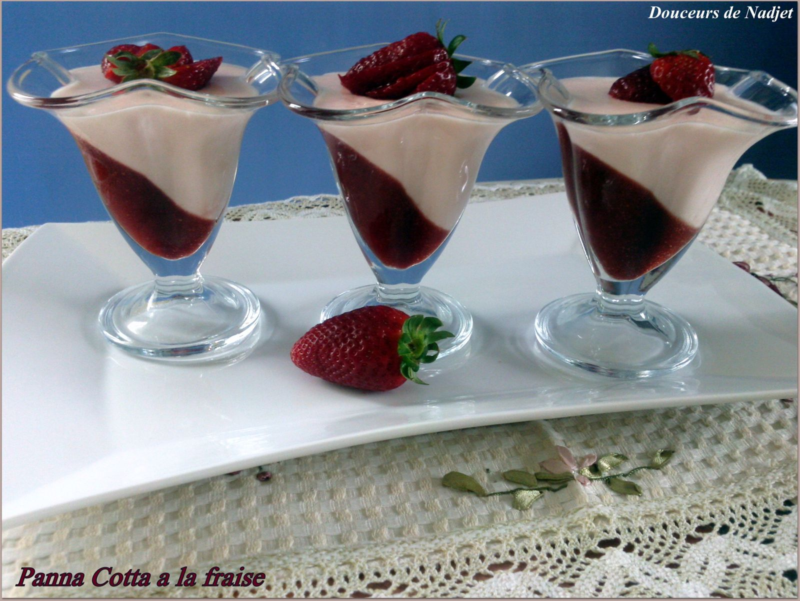 panna cotta aux fraises blogs de cuisine. Black Bedroom Furniture Sets. Home Design Ideas