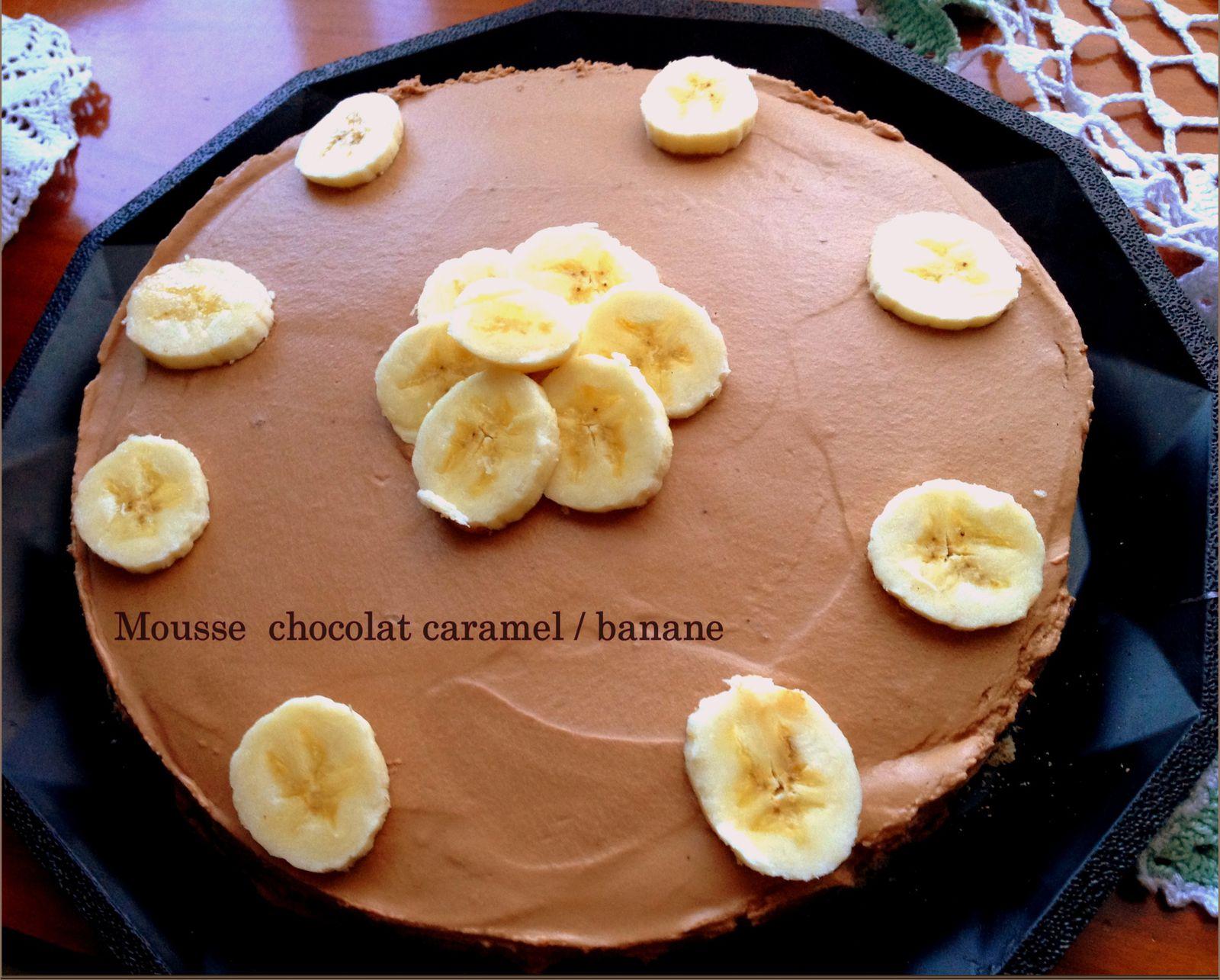 mousse au chocolat caramel et banane http www. Black Bedroom Furniture Sets. Home Design Ideas