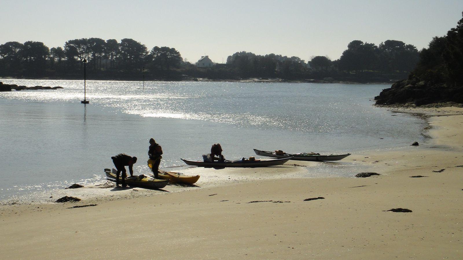 Lundi 4 mars 2013, rando kayak. Beg-Meil, Pouldohan, Concarneau, Anse Saint-Jean