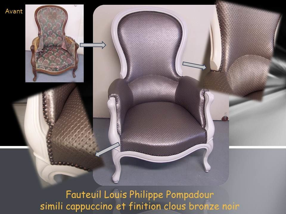 fauteuil louis philippe pompadour tapisserie patrick. Black Bedroom Furniture Sets. Home Design Ideas