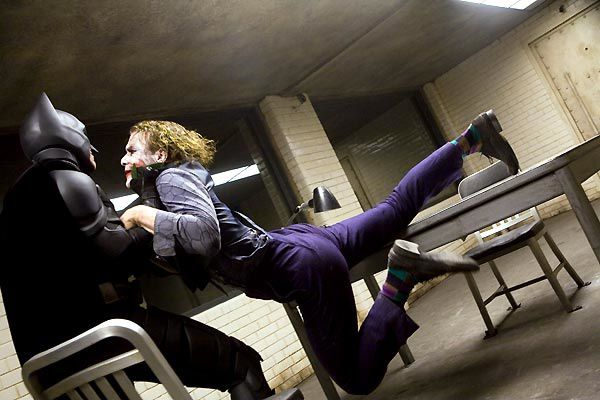 Christian Bale et Heath Ledger. Warner Bros.