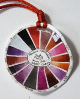 joelle secly pendentif palette rose