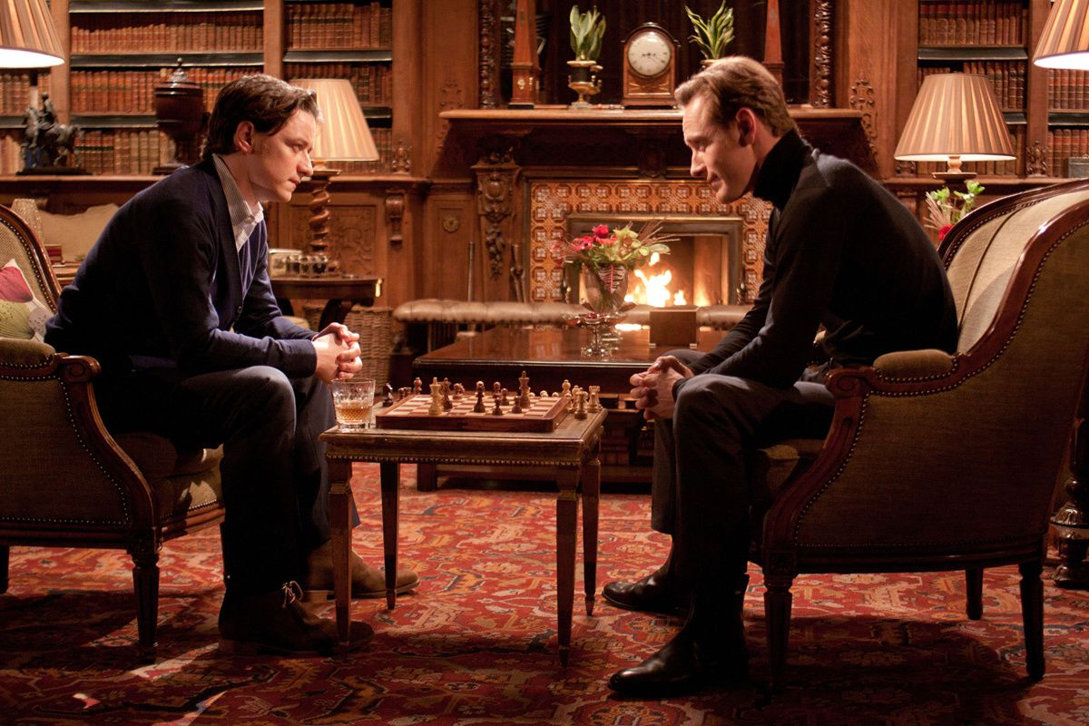 Michael Fassbender &amp; James McAvoy. Twentieth Century Fox France