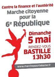 marche pour la 6ème république Mélenchon coup de balai purifier l'atmosphère