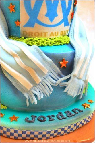 gateau foot ballon stade crampons footballeurs cake designe