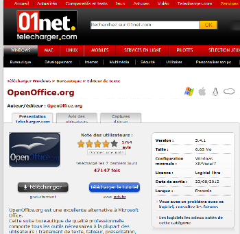 Open office writer tutoriel d butants t l charger - Telecharger writer open office gratuit ...