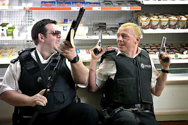 Nick Frost et Simon Pegg. Mars Distribution
