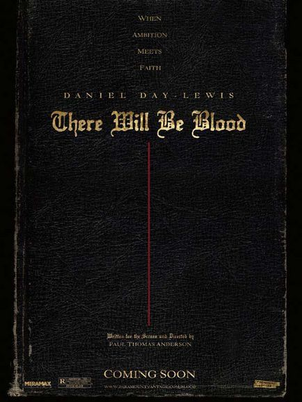 There Will Be Blood - Affiche teaser américaine