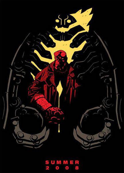 Hellboy 2 : The Golden Army - Affiche teaser américaine
