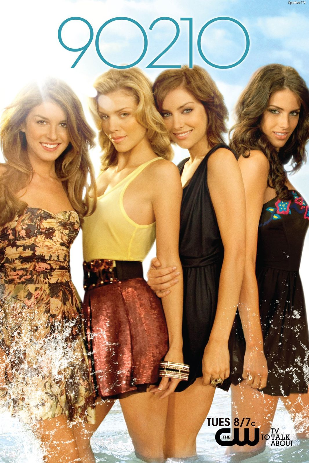 Shenae Grimes, Annalynne McCord, Jessica Stroup et Jessica Lowndes. The CW Television Network