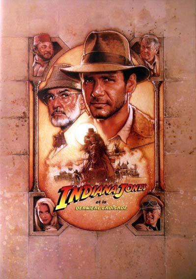 Harrison Ford, Steven Spielberg dans Indiana Jones et la Dernière Croisade (Affiche)