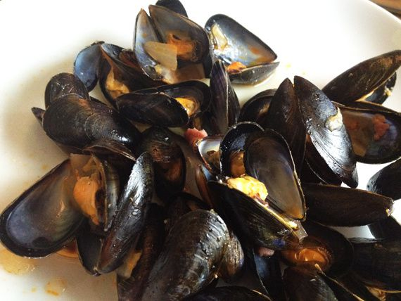 Moules servies