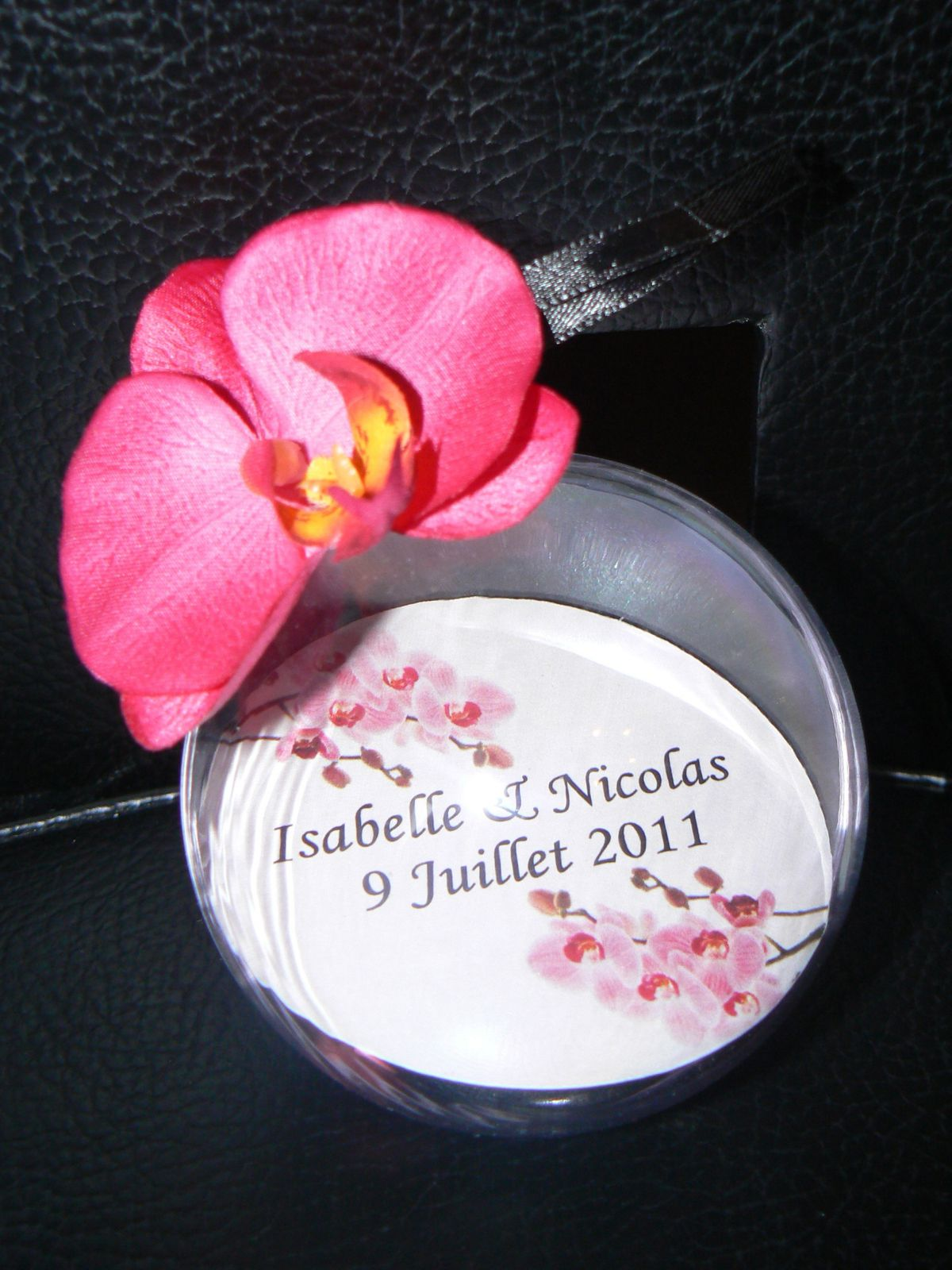 BOULE DRAGEES ORCHIDEE