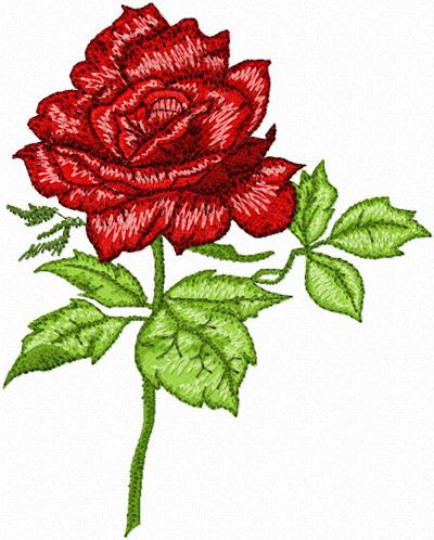 rose embroidery free