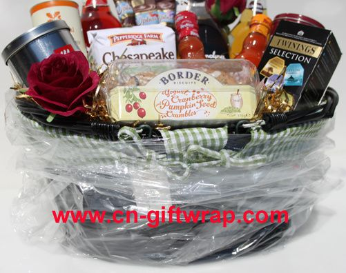 Cheapest way to make gift basket with shrink wrap