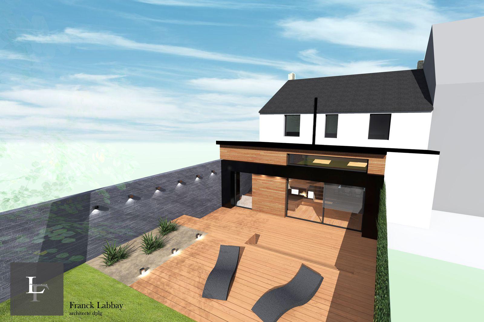 Album maison r extension et renovation rennes franck for Extension architecte