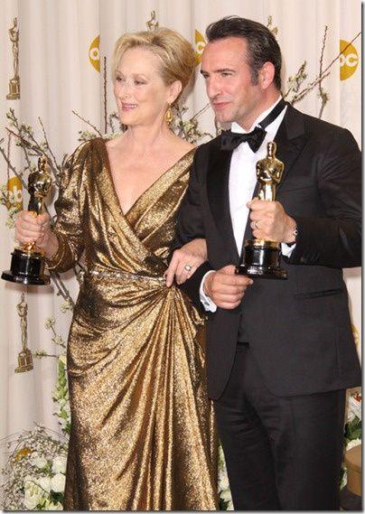 Jean Dujardin et Meryl Streep Oscar 2012