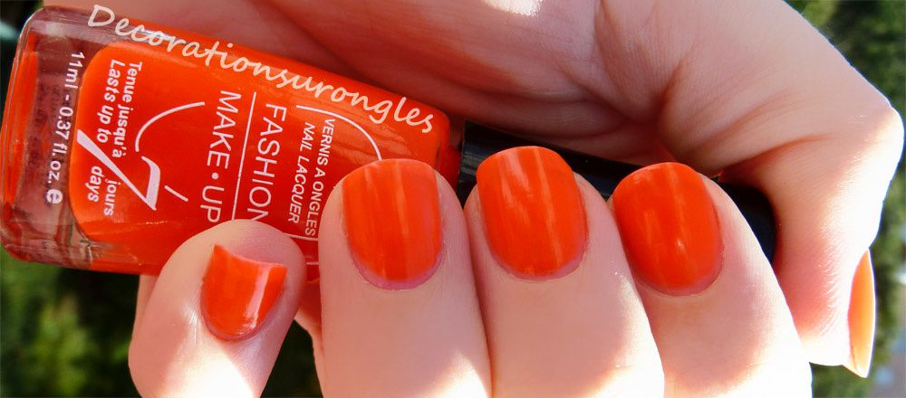 Célèbre Swatch vernis à ongles fashion make up n°3 : Orange fluo  KQ93