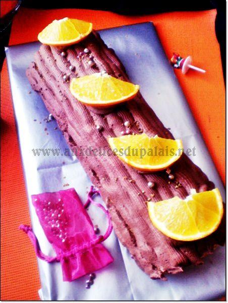 Bûche à l'orange et au chocolat
