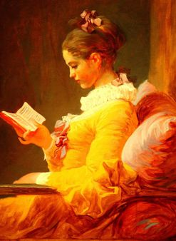 A Young Girl Reading by Jean Honore Fragonard