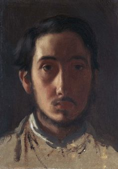 1 Edgar Degas self-portrait. ca 1857 oil on paper laid down on canvas