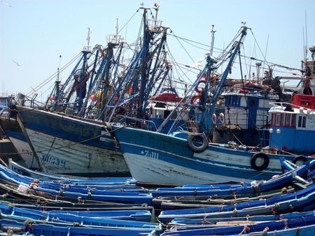 1 Fishing Port in Essaouira, Marocco | Source | Author Rienna | Date