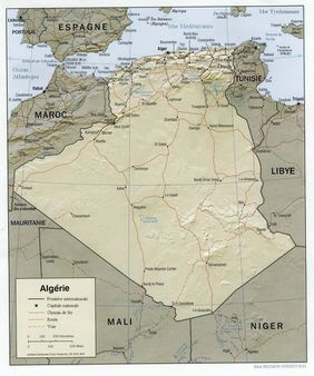 Carte de lAlgérie | Source Traduction personnelle de la version angla