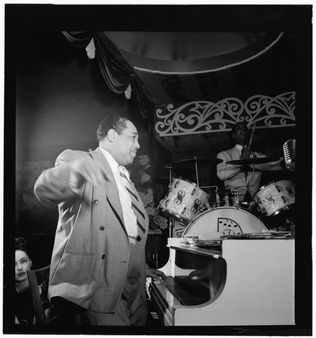 [Portrait of Duke Ellington and Sonny Greer, Aquarium, New York, N.Y.,